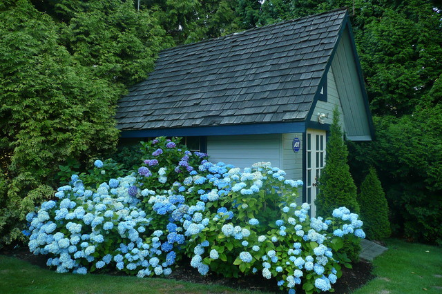 This is an example of a traditional garden shed in Vancouver.