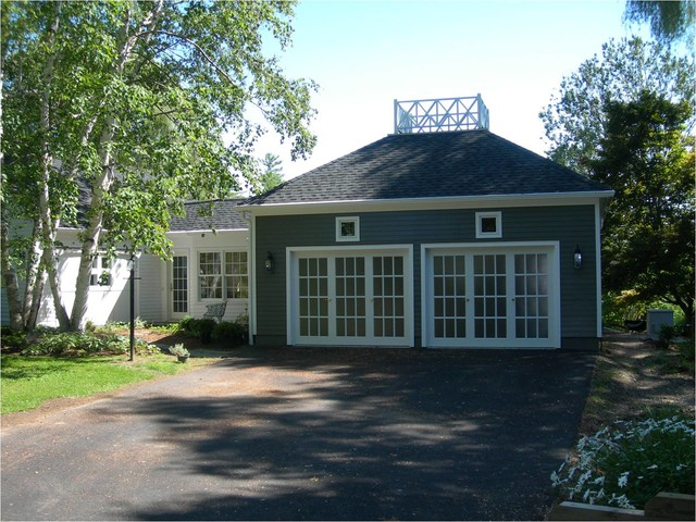 ... , garage doors that look like French doors traditional-shed