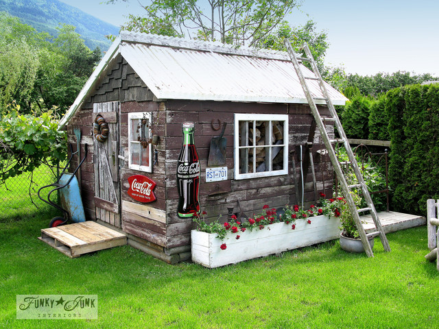 Funky Junk Interiorsu0027 Full Home Tour Eclectic Granny Flat Or Shed