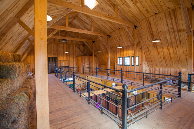 Gambrel horse barn in nebraska traditional shed for Post and beam barn home kits