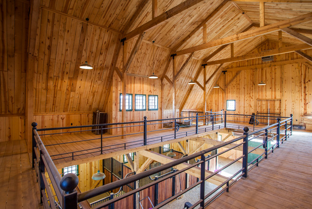 Gambrel Horse Barn In Nebraska Traditional Garage And