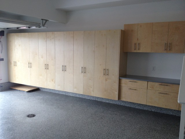 Garage Cabinet Installs - Modern - Garage And Shed - calgary - by Garage Storage Solutions