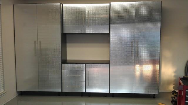 Garage Cabinets Diamond Plate Modern Garage And Shed