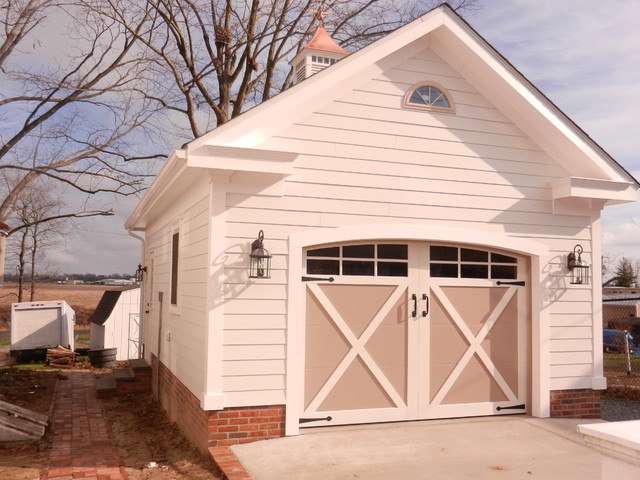 Garage carriage house traditional garage and shed dc for Carriage shed garage plans