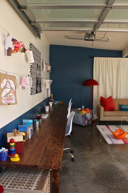 Garage Conversion Into Playroom Contemporary Garage
