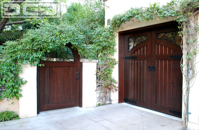 Garage Doors And Entry Gates Designed To Match In A
