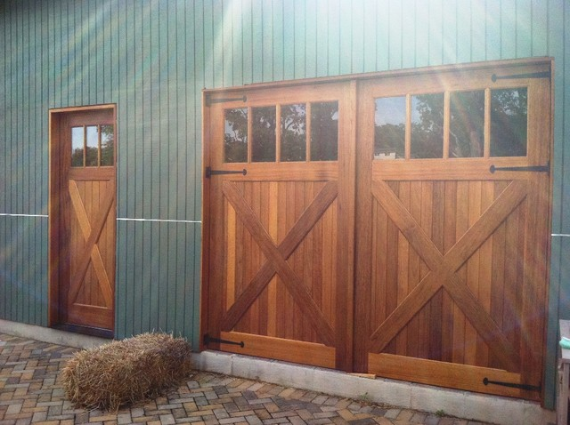 Garage doors rustic shed dc metro by clingerman for Rustic wood garage doors