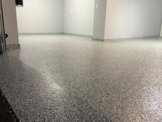 Garage floor coating polyuera 100 flakesBlue Steel Modern