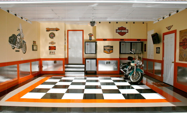 Garage Floor Tiles & Garage Flooring Ideas by RaceDeck - Contemporary ...