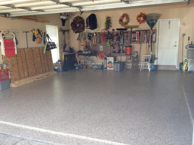 Garage Flooring Remodel Project Deer Field Texas