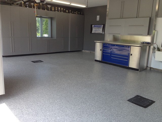 Garage floors projects modern and shed