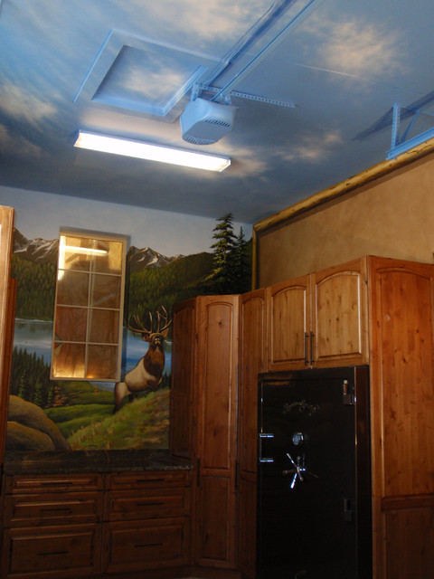 Man Cave Garage Hunting : Garage man cave hunting room eclectic and shed