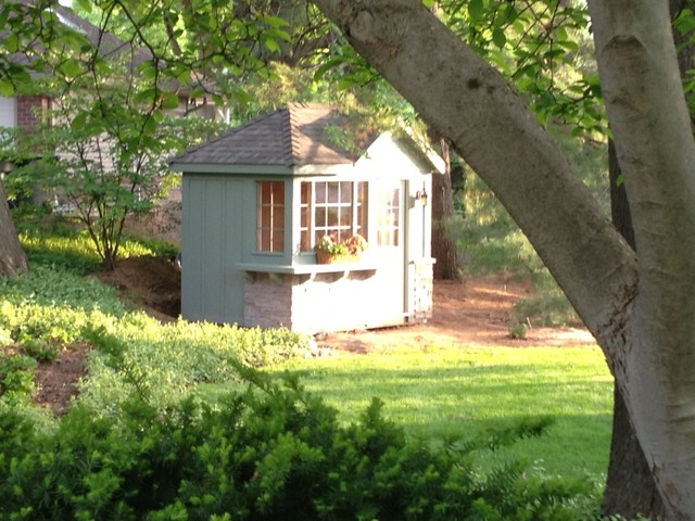 Garden Potting Shed traditional-garage-and-shed