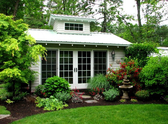 Garden Room With Spa And Greenhouse - Traditional - Shed - Boston