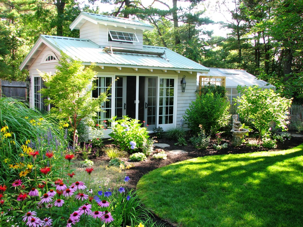 Greenhouse - large traditional detached greenhouse idea in Boston