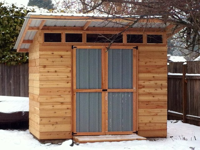 Garden sheds modern shed portland by the chicken for Modern shed
