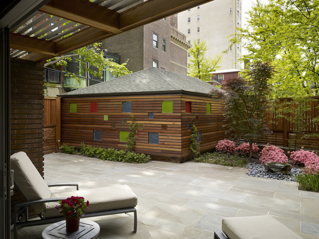 Garden Wall Modern Garage And Shed Philadelphia By
