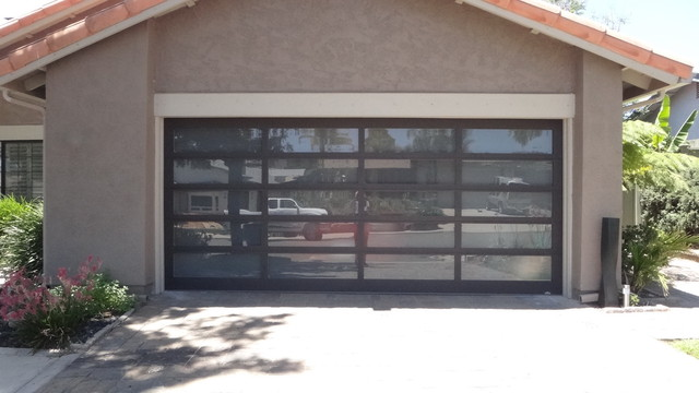 Glass garage door modern shed san diego - Glass garage doors san diego ...