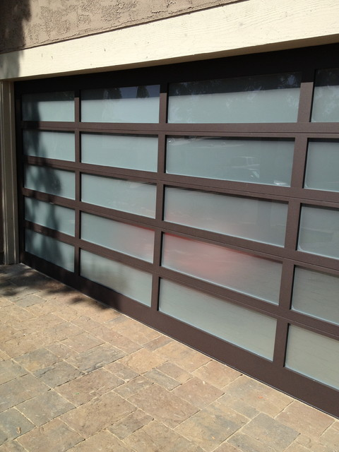 Glass Garage Door Modern Shed San Diego