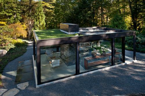 แปลนแบบบ้านชั้นเดียว 02 Glass House in the Garden