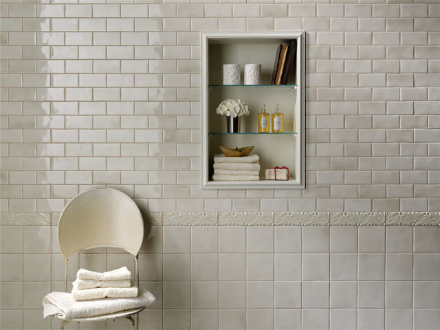 Grazia melange wall tile soft palette and gentle shading Classic bathroom tile ideas
