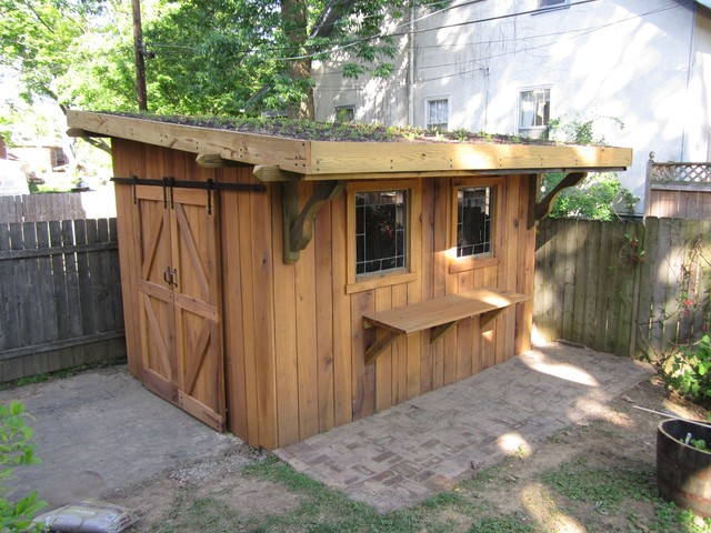 Green roof garden shed - Eclectic - Shed - Louisville - by ...
