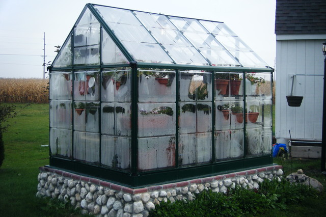 Greenhouse Addition With Stone Foundation