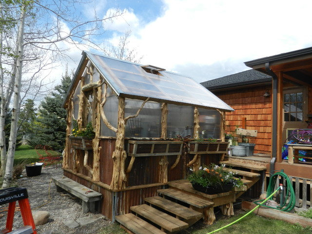 Greenhouse Rustic Garage And Shed Other Metro By Dead Wood Creations