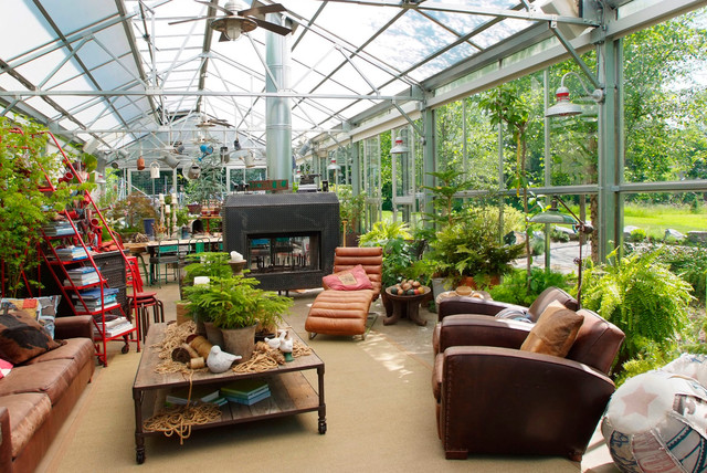 garage exterior ideas - Greenhouse Living Industrial Garage And Shed
