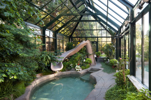 Greenhouse Pool Cover Modern Shed Vancouver By