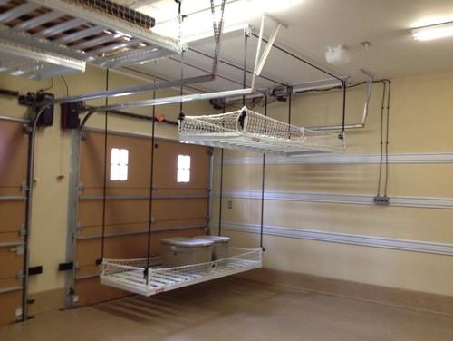 Overhead Garage Storage On Pulleys