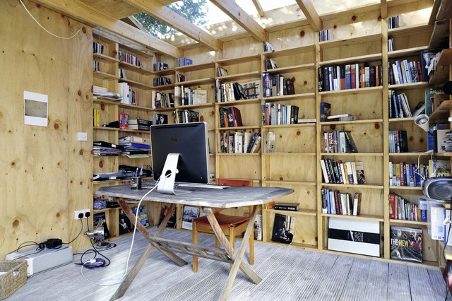 Sheds plans online guide building a home gym shed for Shed office interior