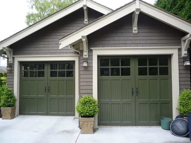 Heritage wood garage door arts crafts garden shed for Arts and crafts garage