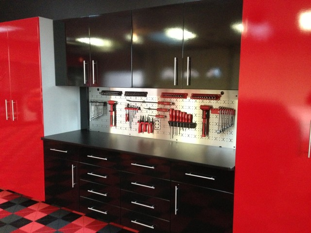 High gloss garage cabinets contemporary shed toronto for Premier garage cabinets