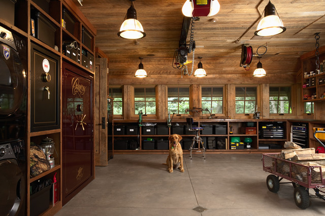 Industrial Garage And Shed by Murphy & Co. Design