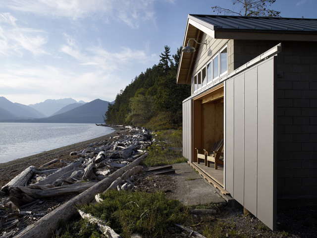 Hood Canal Boathouse rustic-garage-and-shed