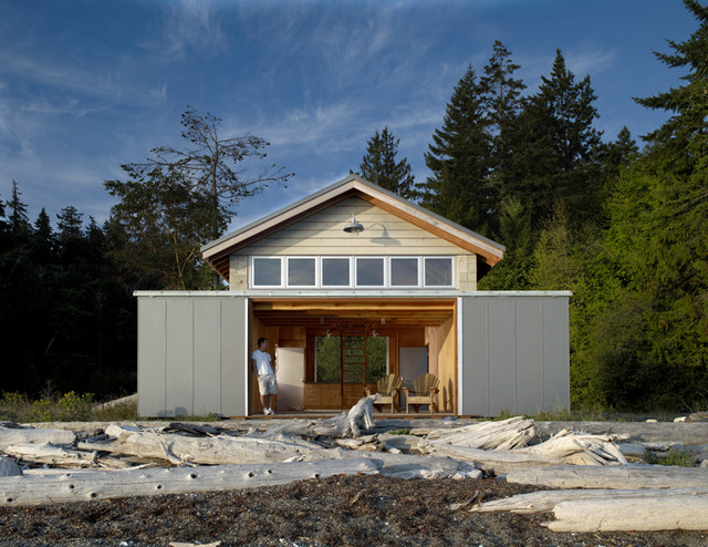 Hood Canal Boathouse contemporary-garage-and-shed