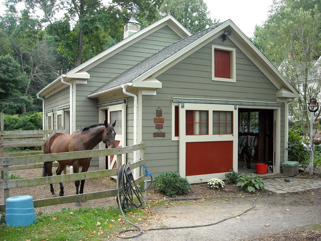 Horse barn traditional shed charleston by for Small barn designs