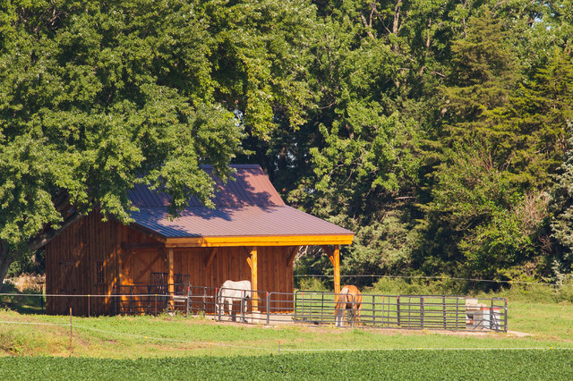 Horse barn small in size large in character farmhouse for Horse barn prices