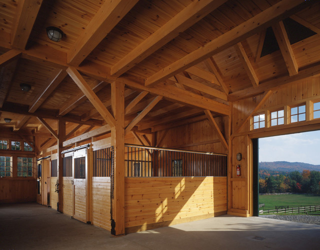 Hanover New Hampshire Horse Farm traditional-garage-and-shed