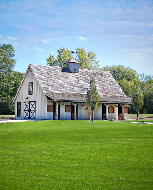 Horse stables architectural design splendor for Barn house indiana