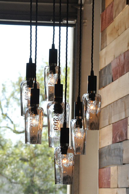 Bottle Light Chandeliers Industrial Garage And Shed