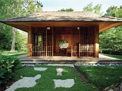 Image gallery japanese garden shed for Japanese garden shed