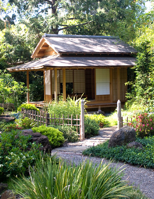 Japanese Tea House - Asian - Shed - San Francisco - by Ki Arts on cedar shed design, cedar home design, cedar greenhouse design,