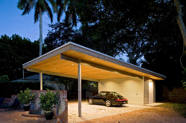 Jolly Residence Sarasota Florida Modern Garage And