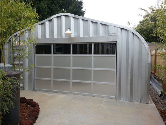 Kal aluminum garage door contemporary garage and shed for Overhead door for shed