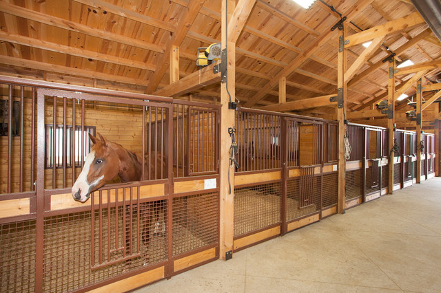 Large Horse Barn Traditional Garage And Shed