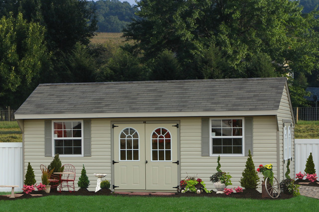 Large Vinyl Shed for Delaware - Traditional - Garage And Shed ...