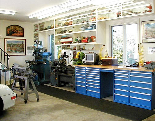 Larry Goddard's Garage Workshop - Garage And Shed - boston - by Lista & Vidmar - Storage ...