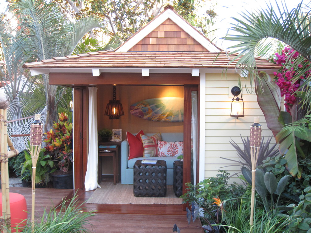 Island style detached guesthouse photo in Orange County